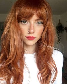 Best And Amazing Red Hair Color And Styles To Create This Summer; Red Hair Color And Style; Giner And Red Hair Color; Ginger Hair Color, Red Hair Color, Curly Ginger Hair, Funky Hair Colors, Color Red, Hairstyles With Bangs, Braided Hairstyles, Hairstyle Ideas, Bob Hairstyle