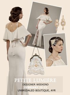 Petite Lumière designer weekend at Unbridaled Boutique, Ayr on February 20th-22nd, 2015 . Head to toe styling and a very special advanced preview of the 2016 wedding dresses collection, before the official launch! For more details: http://unbridaledboutique.com/