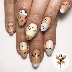 Abstract Nail Art That Are Creative As Hell - My most creative nail list Marble Nail Designs, Nail Art Designs, Manicure, Acryl Nails, Water Nails, Abstract Nail Art, Nail Polish, Minimalist Nails, Creative Nails