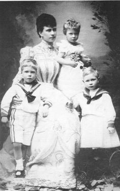 Mary with her three eldest children