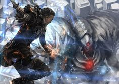 all_male armor boots braids brown_hair building city cuboon final_fantasy final_fantasy_xv gloves knife magic male nyx_ulric signed weapon Noctis Final Fantasy, Final Fantasy Art, Fantasy Series, Final Fantasy Xv Wallpapers, Nyx Ulric, Armor Boots, Hearth And Home, Kingdom Hearts, Finals
