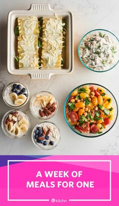 This meal prep plan will set you up with a handful of versatile staples, which will keep your meals feeling fresh all the way through Friday. Easy One Person Meals, Easy Dinners For One, Healthy Dinner For One, Meal Prep Plans, Easy Meal Prep, Healthy Meal Prep, Food Prep, Healthy Eating, Cooking For One
