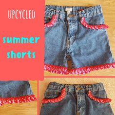 Upcycled Summer Shorts  Keeping it Real