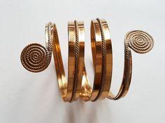 Kalevala Koru, Bronze wrap bracelet, Finland (F2038) Open Ring, Bronze Age, Bangles, Bracelets, Finland, Chain, Earrings, Gold, Jewelry