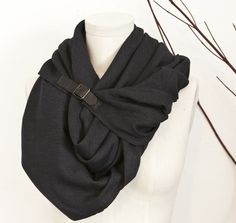 Symmetry scarf with buckle.