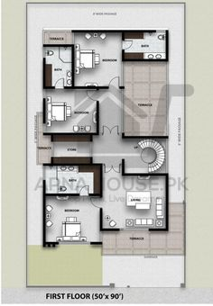 Home Design Plans, Design Show, Architecture Design, Floor Plans, House Design, Flooring, How To Plan, Modern, Baths