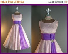 30%OFF 3DAY SALE 50s dress 1950s vintage Two by capricornvintage