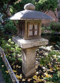 Japanese garden Oribe-style stone lantern or ishidoro from Kyoto prefecture… Japanese Garden Lanterns, Japanese Stone Lanterns, Japanese Garden Design, Japanese Landscape, Japanese Gardens, Diy Hammock, Japan Garden, Japanese Maple, Garden Stones