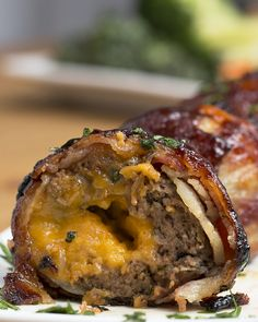 BBQ Bacon Onion-Wrapped Meatballs
