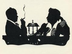 .Silhouette illustration relating to Russian poet, Alexander Pushkin, via the Russian Silhouette Museum