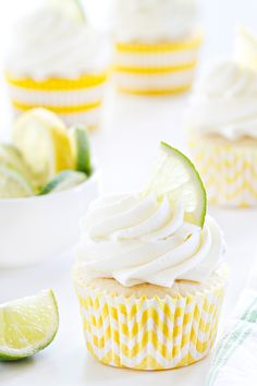 Lemon Lime Cupcakes are loaded with fresh citrus flavor, both in the cake and frosting. They're sure to make your summer a little more amazing!