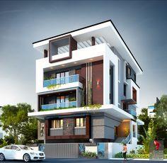 House Structure Design, Flat House Design, House Outer Design, Modern Bungalow House Design, Modern Bungalow Exterior, 3 Storey House Design, Modern Exterior House Designs, Modern Small House Design, Duplex House Design