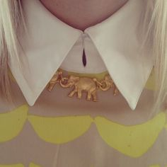 Elephants On Parade Necklace | Candy Shop Vintage - pretty much dead over this. $140