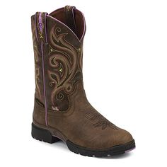 Justin Boots George Strait GSL9040 11-Inch   Women's - Oily Barnwood Brown/Cracked Brown