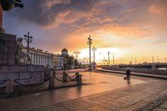 Санкт-Петербург, стрелка Васильевского острова, Биржевой мост