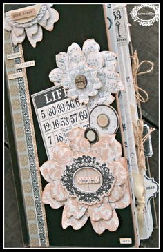 TERESA COLLINS DESIGN TEAM: Vintage Finds large-ish mini book by Cheri Piles