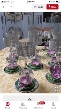Discover thousands of images about Coral centerpieces. Quinceanera or wedding. Glass Centerpieces, Wedding Centerpieces, Wedding Table, Diy Wedding, Wedding Flowers, Wedding Decorations, Table Decorations, Purple Centerpiece, Feather Centerpieces