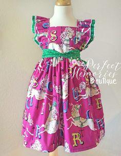 Carousel Horses, Dress, Spring Dress
