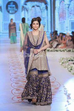 Nida Azwer Collection at Pantene Bridal Couture Week 2014 Pakistani Formal Dresses, Pakistani Wedding Dresses, Formal Dresses For Weddings, Pakistani Outfits, Event Dresses, Wedding Party Dresses, Indian Dresses, Dresses 2014, Pakistani Mehndi