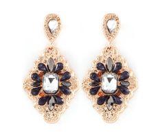 Arie Earrings in Black Diamond
