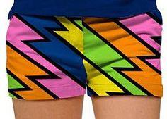 Loudmouth Ladies Lightning Rod Mini Shorts