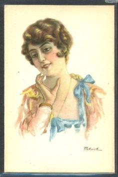 KC082-a-s-PICKWICK-Portrait-de-FEMME-BEAUTIFUL-LADY-GLAMOUR