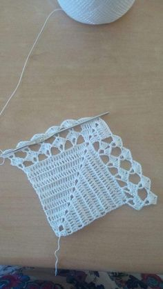 Hand made crochet collars - Knitted detachable collar - Hand made collar - Knitt Crochet Doily Rug, Crochet Motifs, Crochet Flowers, Hand Crochet, Crochet Patterns, Knitting Patterns, Crochet Shawl, Diy Crafts Crochet, Sewing Crafts