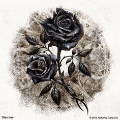 The Alchemist dark art - Bing images Skull Tattoo Flowers, Skull Rose Tattoos, Body Art Tattoos, Black Roses Wallpaper, Gothic Wallpaper, Gothic Artwork, Black And Red Roses, Black Flowers, Rose Drawing Tattoo