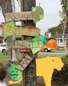 Porch Signs / Welcome to the Rainforest? Can also make a sign saying Welcome to…