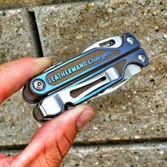 My #leatherman #charge #tti with bronze/blue #anodization