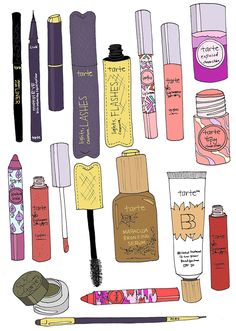 EmmaKisstina Illustrations by Kristina Hultkrantz: EmmaKisstina for Tarte Cosmetics