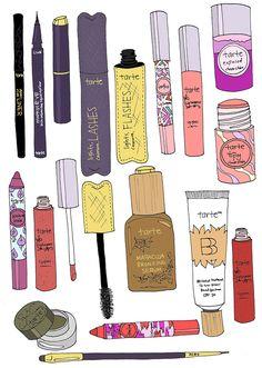 EmmaKisstina Illustrations by Kristina Hultkrantz: EmmaKisstina for Tarte Cosmetics