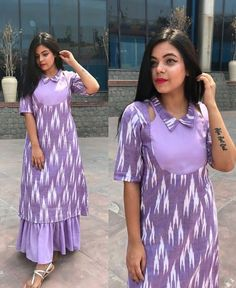 Latest trends in Beauty, Fashion, Indian outfit ideas, Wedding style on your mind? We bring to you hand picked collections for inspiration Kurti Sleeves Design, Kurta Neck Design, Simple Kurti Designs, Kurta Designs Women, Latest Kurti Designs, Outfit Essentials, Dress Neck Designs, Designs For Dresses, Kurti Patterns