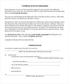 sample certificate of service template certificate of service template free word pdf documents - Certificate Of Service Template