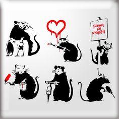 Banksy - rat pack - http://weareyourfriend.nl/banksy-vrijheid-in-beeld/