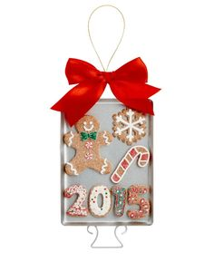 Holiday Lane Gingerbread Cookie Sheet 2015 Dated Ornament