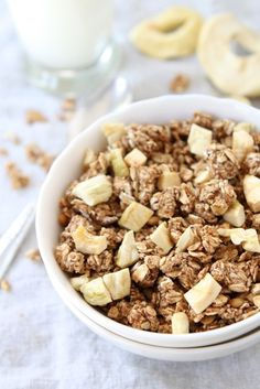 Apple Cinnamon Granola from Two Peas and Their Pod (www.twopeasandtheirpod.com) #recipe