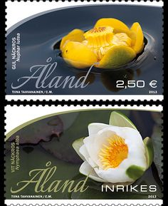 Two artistically beautiful stamps were issued this June by Aland. It features a white and a yellow water lily. Check out this stamp issue on our website www.wopa-stamps.com