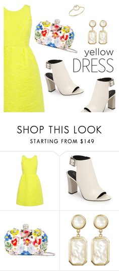 """""""In La La Land: Yellow Dresses"""" by dressedbyrose ❤ liked on Polyvore featuring Paul & Joe Sister, Calvin Klein, Alexander McQueen, Rivka Friedman, ZoÃ« Chicco, yellowdress and polyvoreeditorial"""