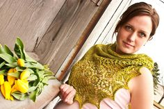 Woodland Spring Shawl Pattern available on Craftsy.com