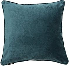 Teal Matt Velvet Cushion Cover, 43cm x 43cm. From the McAlister Textiles Luxury collection: Amazon.co.uk: Kitchen & Home
