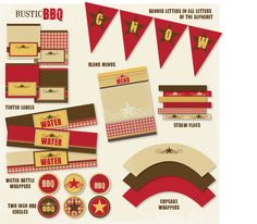 Rustic BBQ Barbecue Printable Party as seen by FrogPrincePaperie