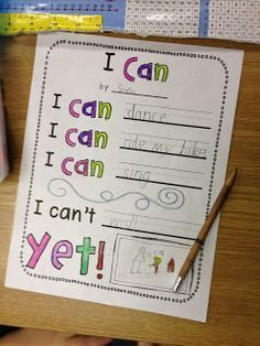 I Can't ...YET!:) poetry! Activities to learn about the virtue of perseverance.