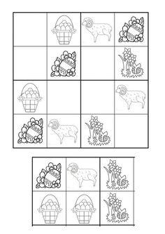 Preschool Worksheets, Preschool Activities, Sudoku Puzzles, Hidden Pictures, Kindergarten Math, Teaching Tips, Kids And Parenting, Crafts For Kids, Coding