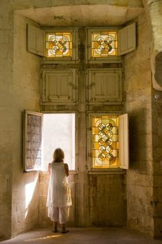 Stained glass windows are so Beautiful but SO much more than that is being warmed by His  Beautiful Presence.....
