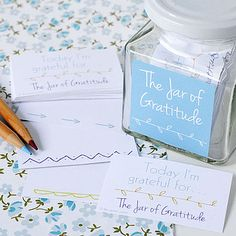Gratitude Jar. A really easy idea to do for a lesson or family home evening. Love it!