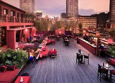 Shanghai restaurants Lost Heaven roof top views across the bund!!