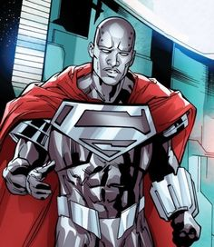 Inspired by Superman, John Henry Irons mimicked his powers with technology. However, his greatest powers are his heart, mind, and determination. Real Superman, Superman Family, Superman Characters, Dc Comics Characters, Fictional Characters, Steel Dc Comics, Big Barda, Adventures Of Superman, Dc Comics Heroes