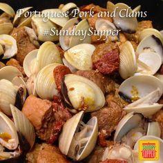 Carne de Porco Alentejana | Portuguese Pork and Clams #SundaySupper
