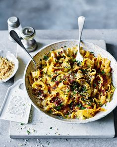 Forget what you know about quick pasta recipes because this heavenly combination of pappardelle, lemon, spicy 'nduja and crunchy breadcrumbs is here t